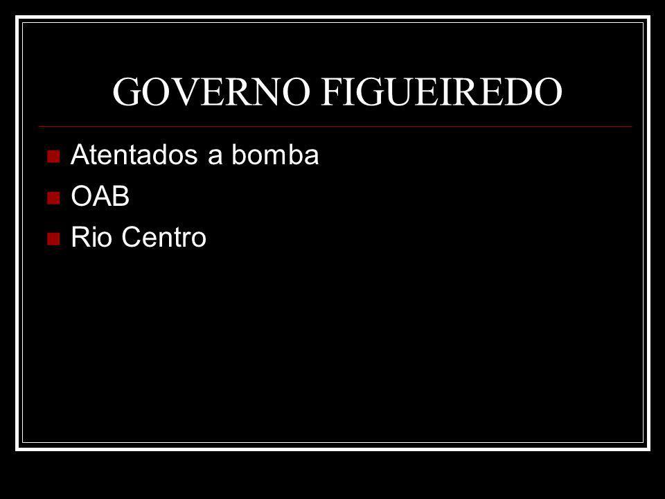 GOVERNO FIGUEIREDO Atentados a bomba OAB Rio Centro