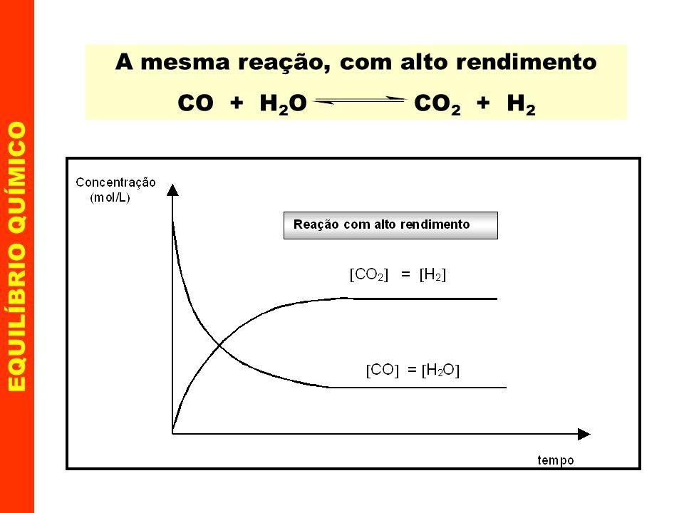 EQUILÍBRIO QUÍMICO Deslocamento do equilíbrio químico (Princípio de Le Chatelier ou equilíbrio móvel) Os agentes externos que podem deslocar o estado de equilíbrio são: 1.