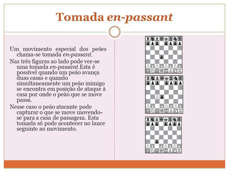 Outras Regras Desistência e Proposta de Empate Um jogador pode desistir a qualquer momento, o que implica a sua derrota. Após realizar uma jogada um j