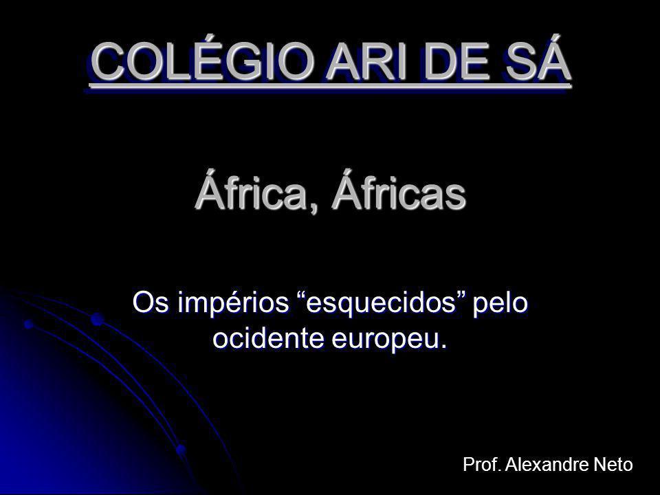 África, Áfricas Os impérios esquecidos pelo ocidente europeu. Prof. Alexandre Neto COLÉGIO ARI DE SÁ