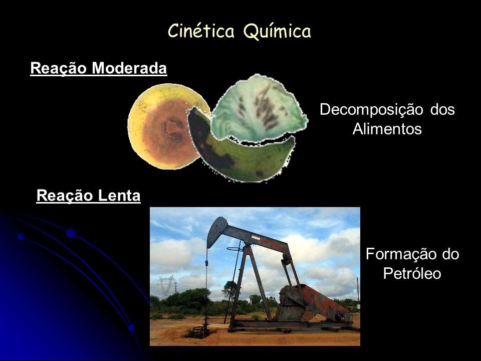 Cinética Química Reação Moderada Reação Lenta Decomposição dos Alimentos Formação do Petróleo