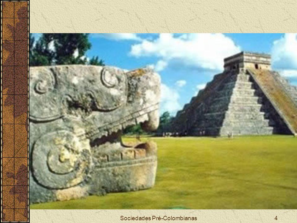 Sociedades Pré-Colombianas45 ASPECTOS POLÍTICO-SOCIAIS ASTECAS Organizados numa confederação criada através de uma tríplice aliança entre os reinos de Tenochtitlan, Tlacopan e Texcoco Apesar de ter extensos domínios nunca foi um Império propriamente dito, devido a falta de uma política de centralização administrativa A unidade política era o calpulli, pequenos grupos de origem tribal Os cargos políticos eram obrigatórios e somente em casos excepcionais eram renunciáveis através de cerimônia específica