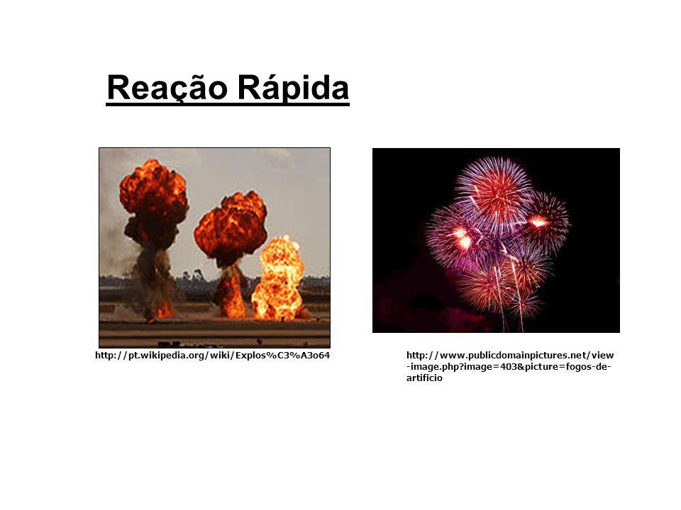 Reação Moderada http://www.publicdomainpictures.net/view- image.php?image=1656&picture=macas-podres http://www.diaadia.pr.gov.br/tvpendrive/arqui vos/File/imagens/4quimica/2vela2.jpg
