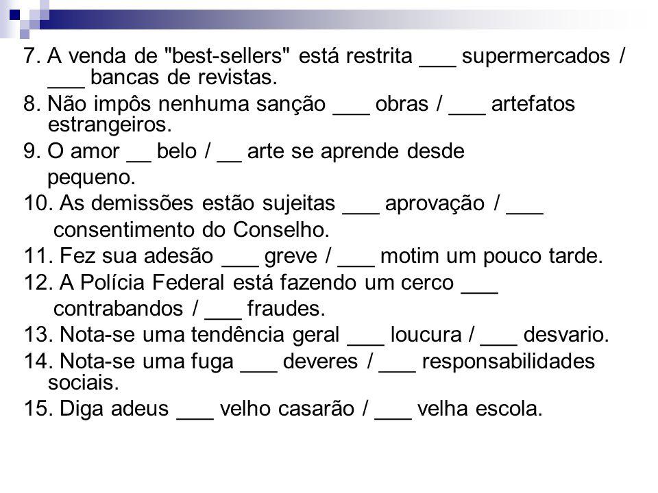 7. A venda de