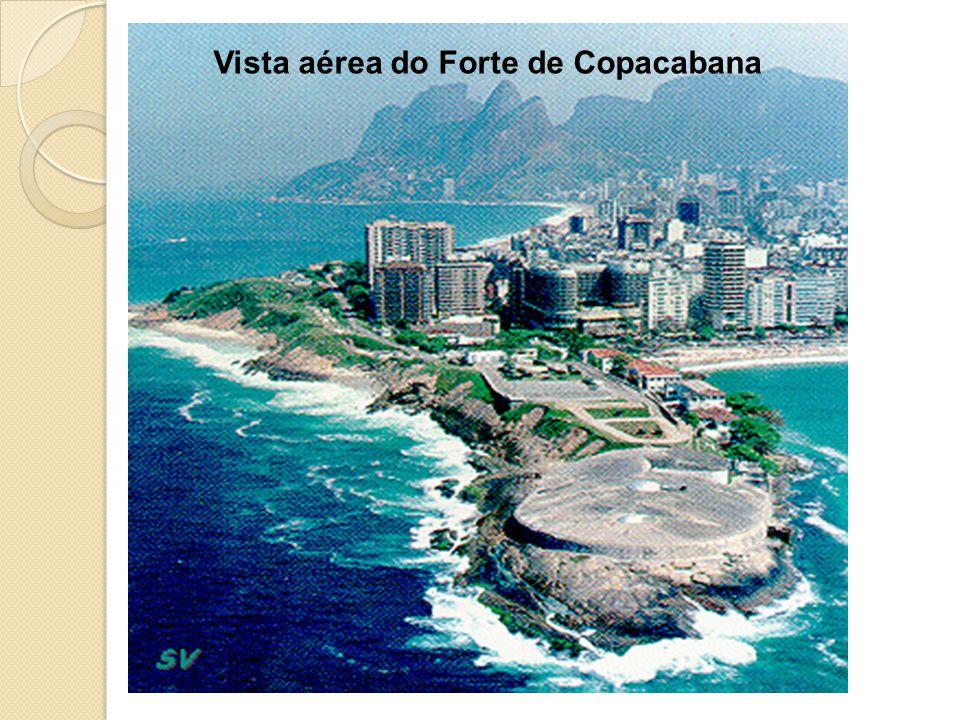 Vista aérea do Forte de Copacabana