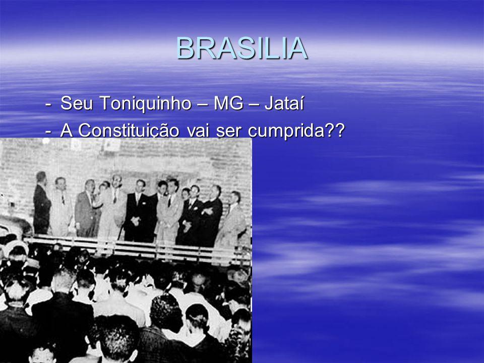 BRASILIA -Seu Toniquinho – MG – Jataí -A Constituição vai ser cumprida??