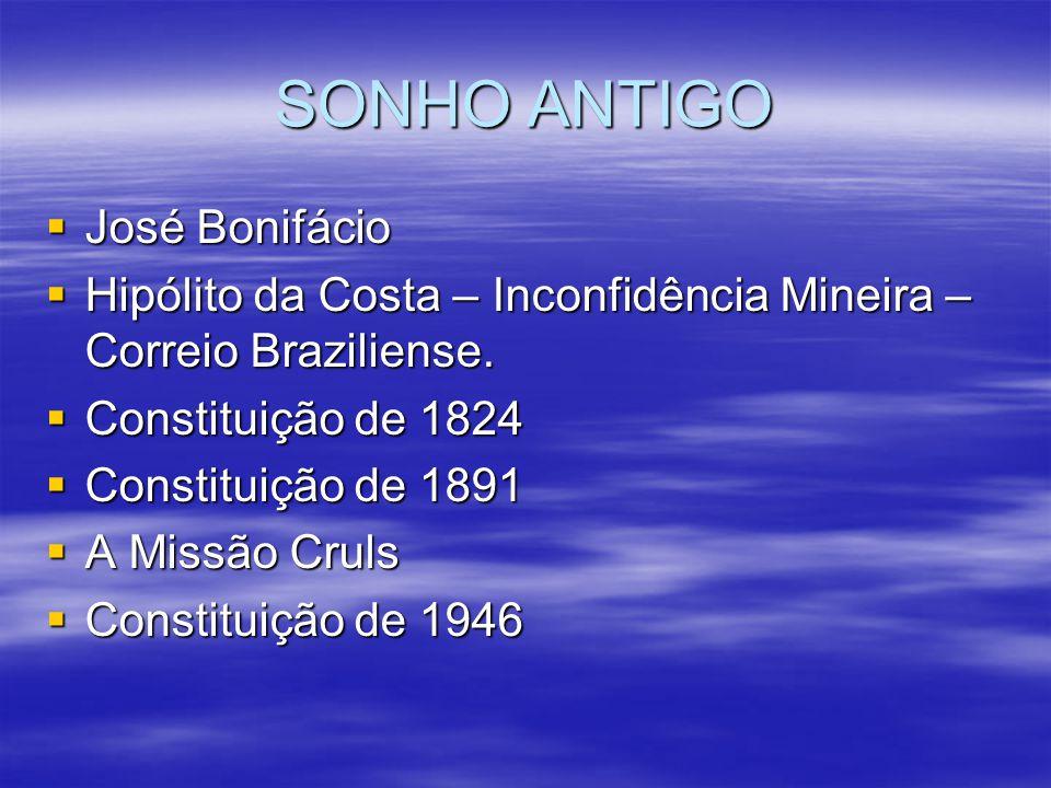 SONHO ANTIGO José Bonifácio José Bonifácio Hipólito da Costa – Inconfidência Mineira – Correio Braziliense. Hipólito da Costa – Inconfidência Mineira