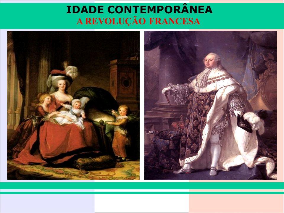 IDADE CONTEMPORÂNEA A REVOLUÇÃO FRANCESA 1793: Constituição do Ano I Sufrágio universal, fim da escravidão nas colônias.