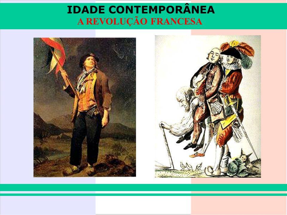 IDADE CONTEMPORÂNEA A REVOLUÇÃO FRANCESA NAPOLEÃO FOI DERROTADO, PRESO e mandado para a ilha de Elba.NAPOLEÃO FOI DERROTADO, PRESO e mandado para a ilha de Elba.
