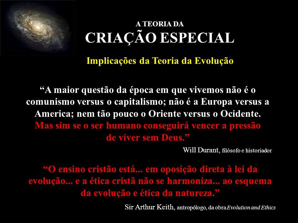 A maior questão da época em que vivemos não é o comunismo versus o capitalismo; não é a Europa versus a America; nem tão pouco o Oriente versus o Ocid