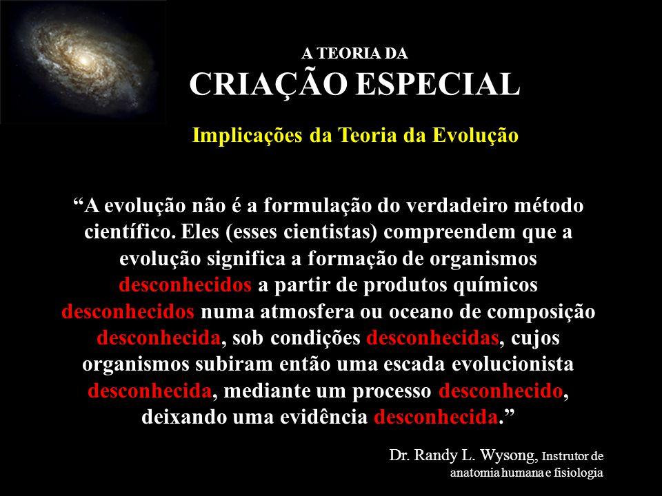 A evolução não é a formulação do verdadeiro método científico. Eles (esses cientistas) compreendem que a evolução significa a formação de organismos d