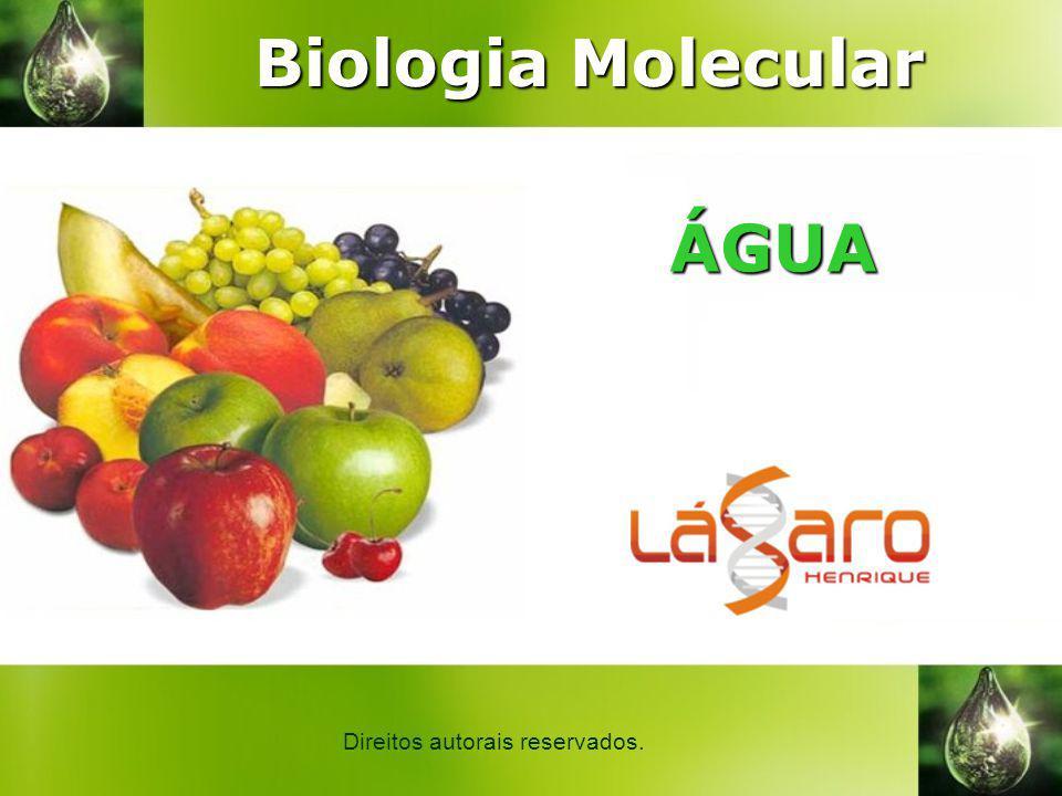 ÁGUA Direitos autorais reservados. Biologia Molecular