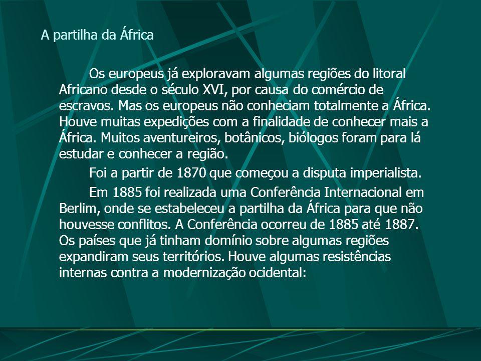 O processo de colonização: A dominação européia não teve limites. Para eles os africanos e os asiáticos eram povos
