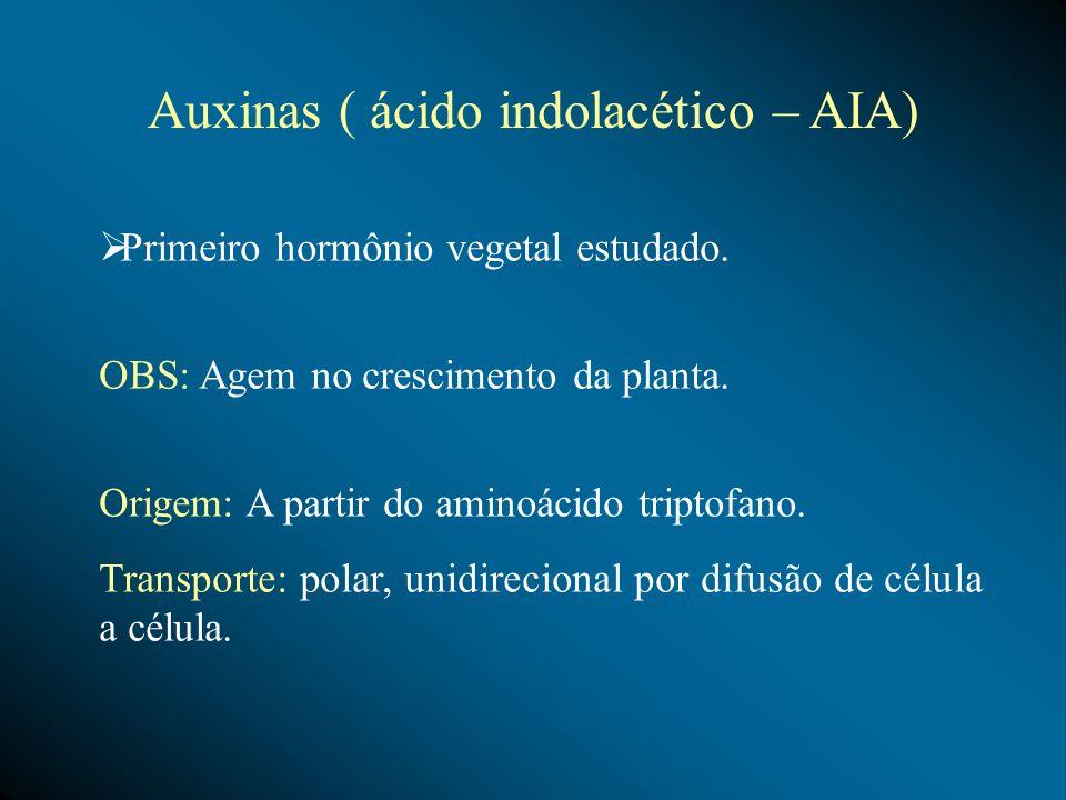 Citocininas O papel essencial da citocinina é regular o crescimento vegetal, normalizando o desenvolvimento da planta.