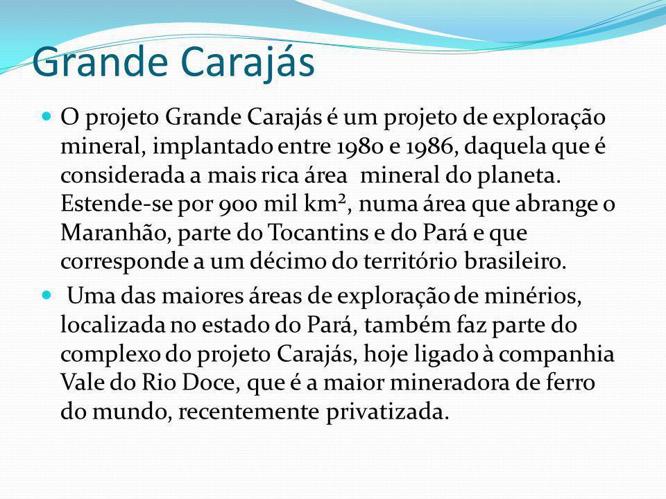 O projeto Grande Carajás é um projeto de exploração mineral, implantado entre 1980 e 1986, daquela que é considerada a mais rica área mineral do plane