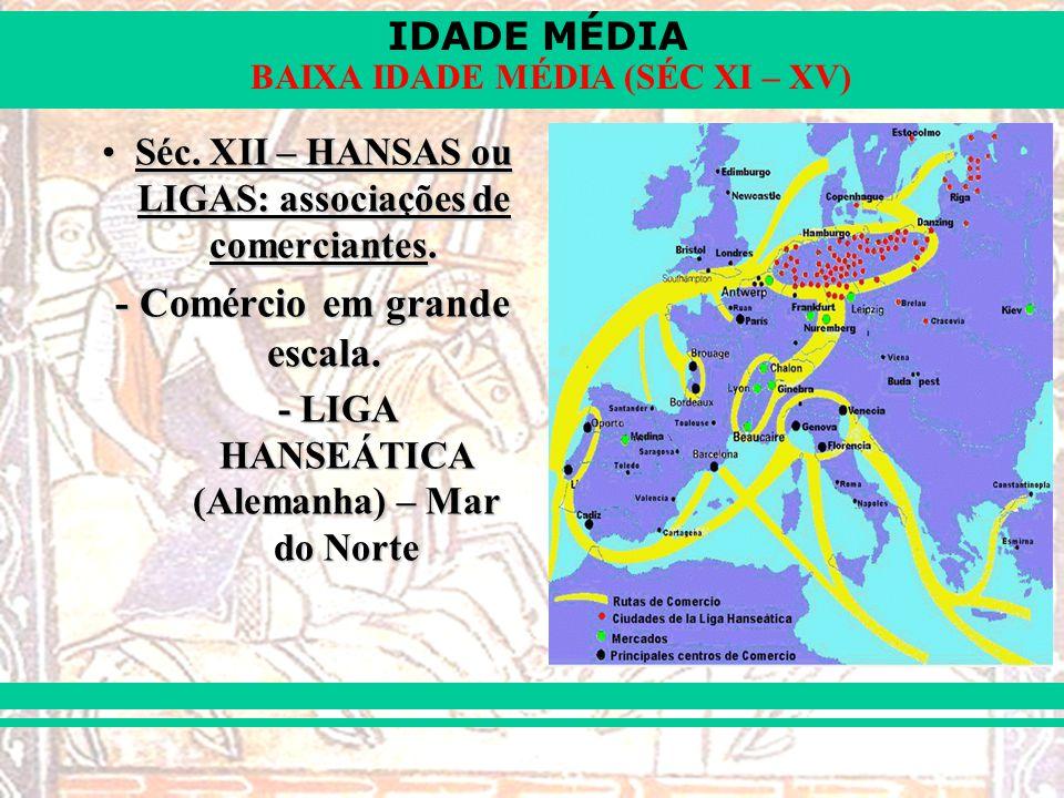 IDADE MÉDIA BAIXA IDADE MÉDIA (SÉC XI – XV) Séc.