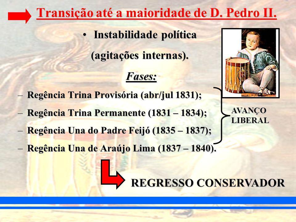 Transição até a maioridade de D.Pedro II.
