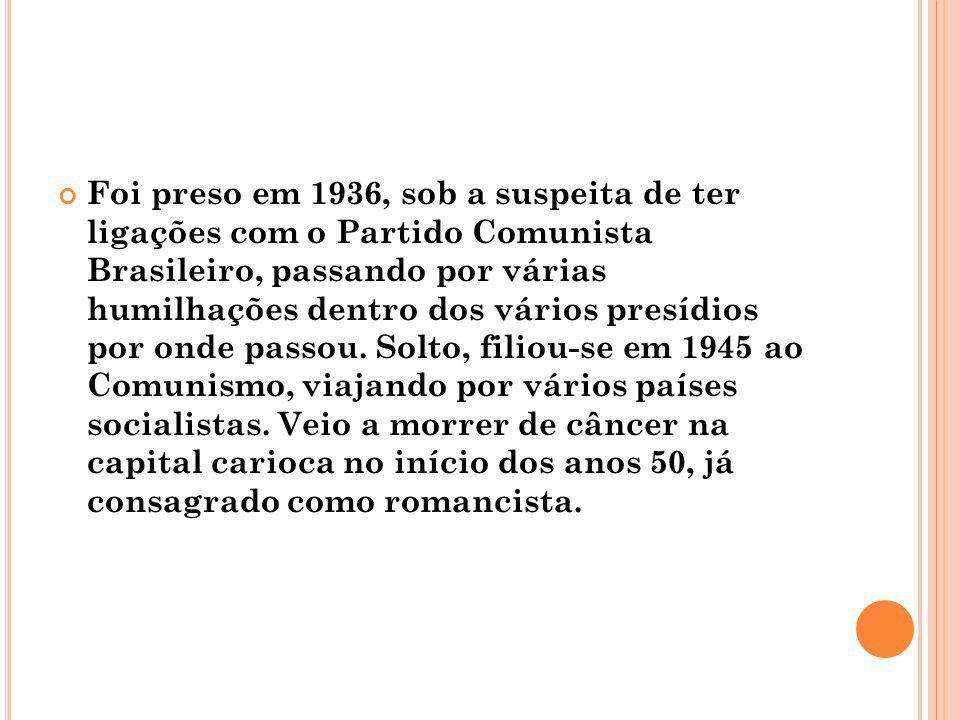Foi preso em 1936, sob a suspeita de ter ligações com o Partido Comunista Brasileiro, passando por várias humilhações dentro dos vários presídios por