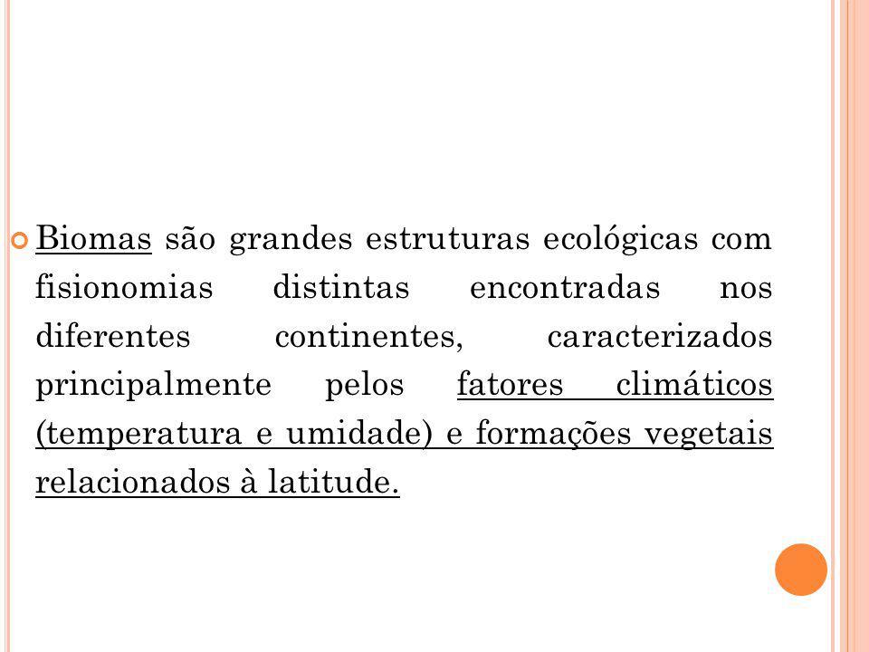 SÃO ELES: Floresta Amazônica (Hiléia) Cerrado Caatinga Floresta de Cocais (Babaçuais) Pantanal mato-grossense Floresta Pluvial Costeira (Floresta Atlântica) Pampa Manguezais Floresta de Araucárias