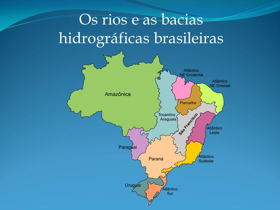 Os rios e as bacias hidrográficas brasileiras