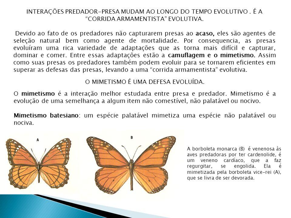 INTERAÇÕES PREDADOR-PRESA MUDAM AO LONGO DO TEMPO EVOLUTIVO.