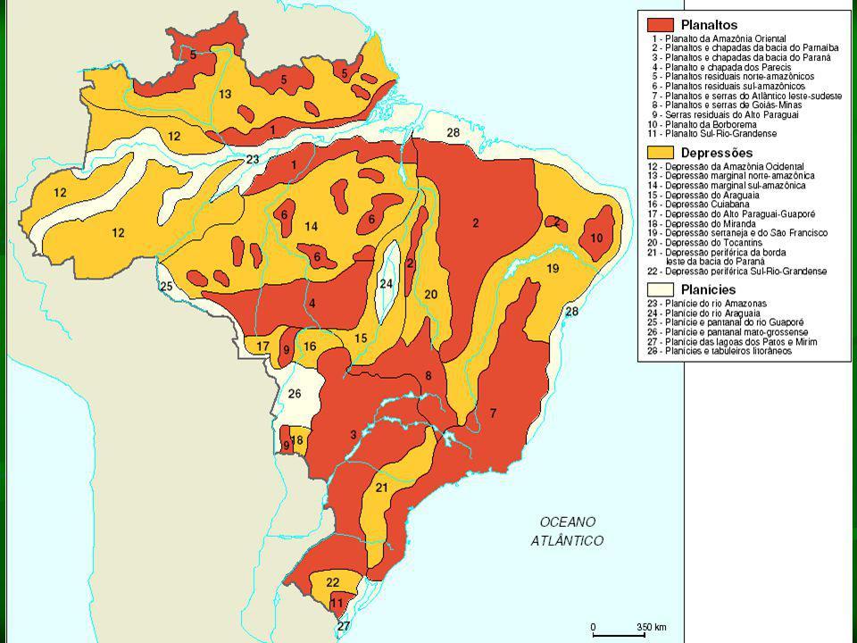 II – Geomorfologia: as estruturas e o relevo A placa tectônica sul-americana A placa tectônica sul-americana Devido ao movimento de Orogênese dessa pl