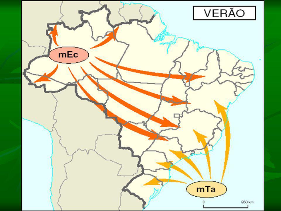 III – Dinâmica climática No Brasil temos diversos tipos climáticos, havendo predominância é claro de tipos quentes e úmidos, devido a nossa tropicalid