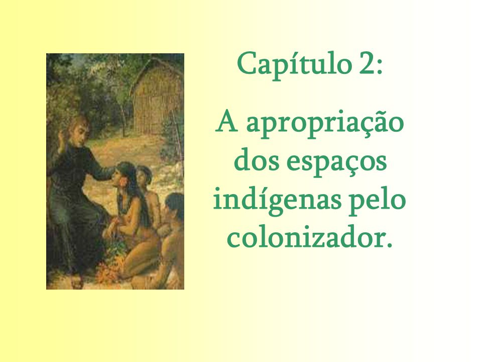 Capítulo 2: A apropriação dos espaços indígenas pelo colonizador.