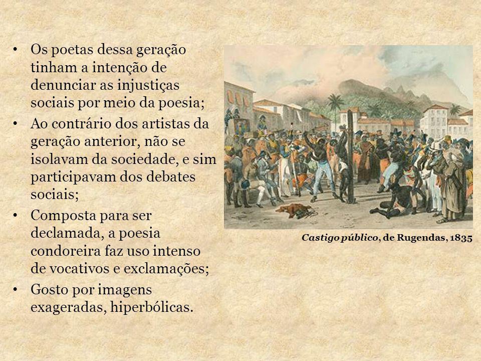 Os poetas dessa geração tinham a intenção de denunciar as injustiças sociais por meio da poesia; Ao contrário dos artistas da geração anterior, não se