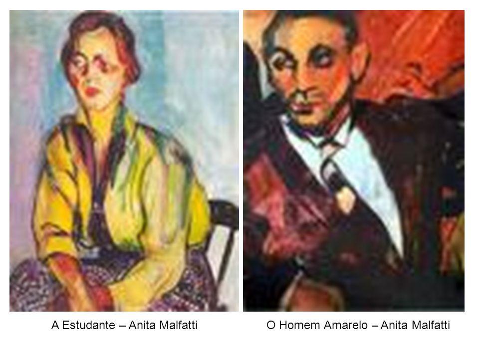 A Estudante – Anita MalfattiO Homem Amarelo – Anita Malfatti