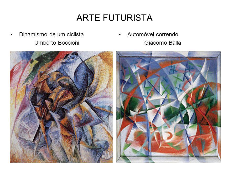 O MANIFESTO FUTURISTA Foi escrito pelo poeta italiano Filippo Tommaso Marinetti, e publicado no jornal francês Le Figaro em 1909.