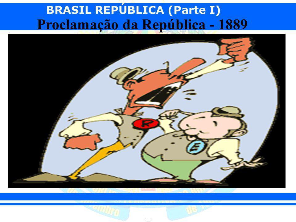 BRASIL REPÚBLICA (Parte I) Proclamação da República - 1889 Questões sociais: A classe média (funcionários públicos, profissionais liberais, jornalistas, estudantes, artistas, comerciantes) estava crescendo nos grandes centros urbanos e desejava mais liberdade e maior participação nos assuntos políticos do país.