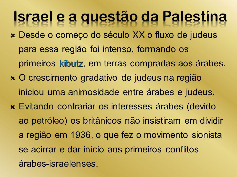 kibutz Desde o começo do século XX o fluxo de judeus para essa região foi intenso, formando os primeiros kibutz, em terras compradas aos árabes. O cre