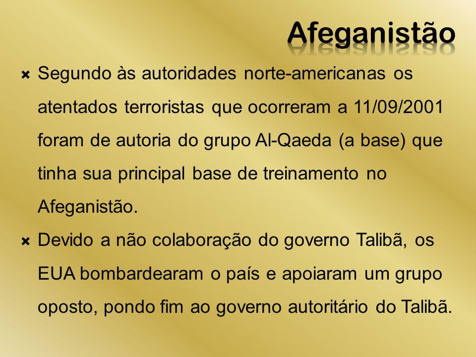 Segundo às autoridades norte-americanas os atentados terroristas que ocorreram a 11/09/2001 foram de autoria do grupo Al-Qaeda (a base) que tinha sua