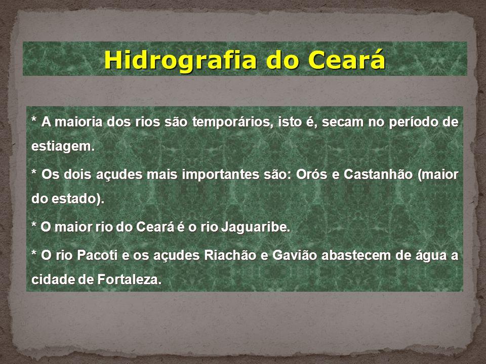 Relevo do Ceará * Para medir a altura de um lugar, usamos como referência o nível do mar, que tem altitude zero. * O relevo do Ceará é constituído pel