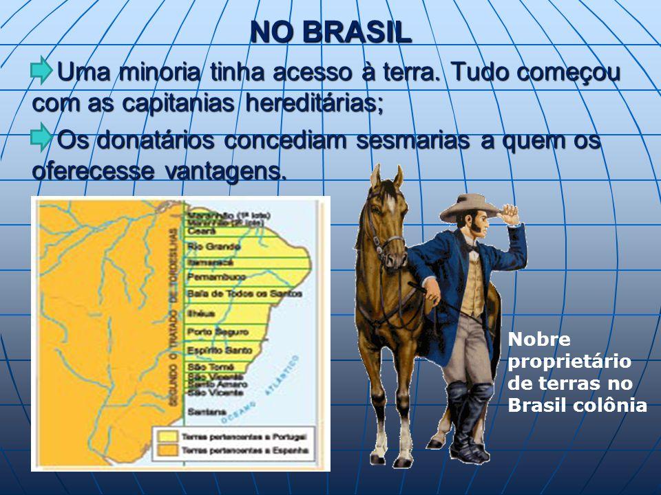NO BRASIL Uma minoria tinha acesso à terra.