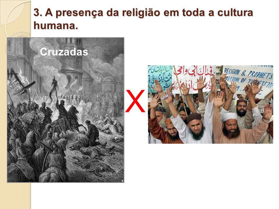 3. A presença da religião em toda a cultura humana. X Cruzadas