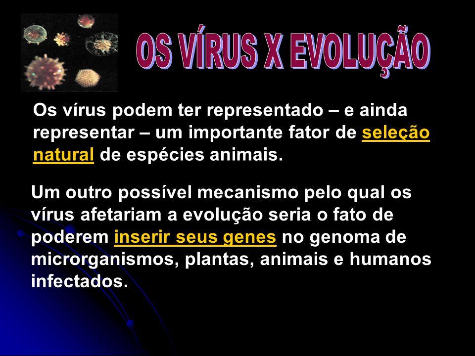 Os vírus podem ter representado – e ainda representar – um importante fator de seleção natural de espécies animais. Um outro possível mecanismo pelo q