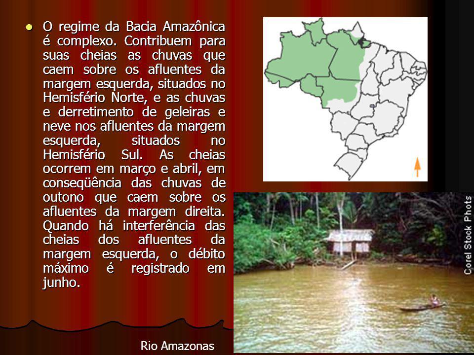 O regime da Bacia Amazônica é complexo.
