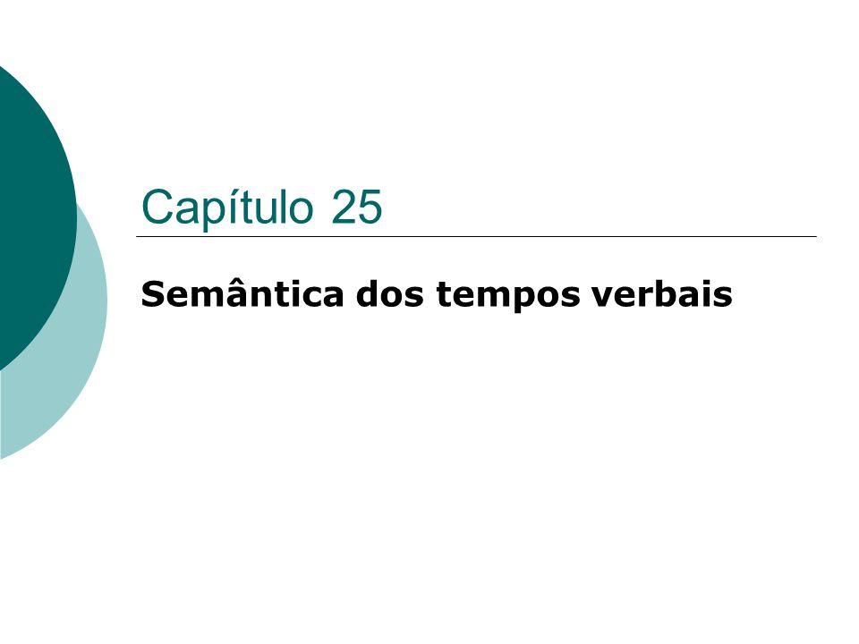 Capítulo 25 Semântica dos tempos verbais