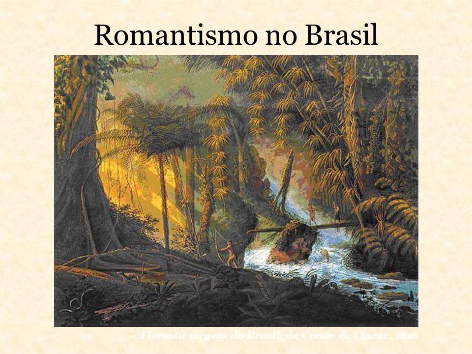 Romantismo no Brasil Floresta virgem do Brasil, de Conde de Clarac, 1816