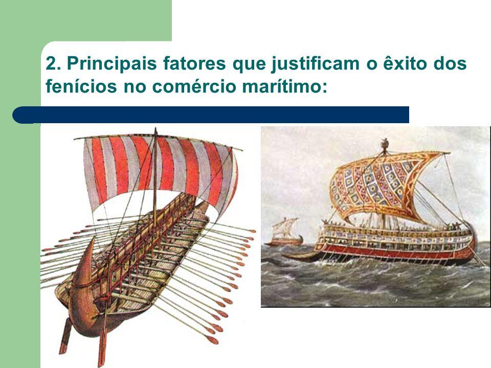 A escassez de terras férteis; A proximidade do Mar Mediterrâneo (encruzilhada de rotas comerciais); Bons portos naturais (litoral recortado); A abundância de madeira para a indústria naval, etc.