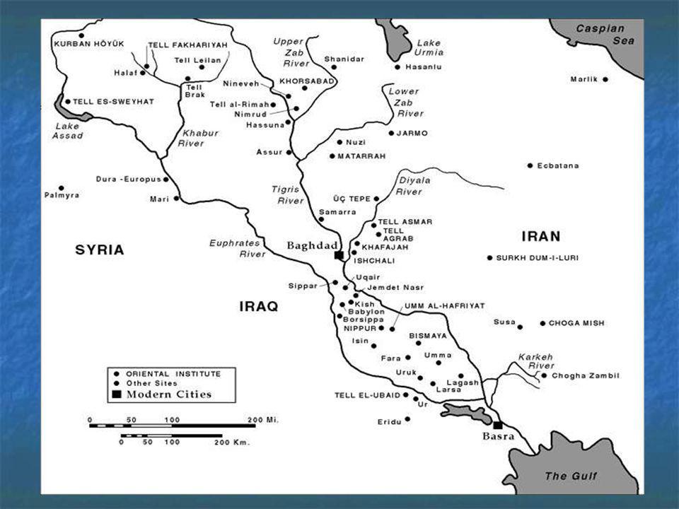 Características da região O nome, Mesopotâmia, do grego, significa terra entre rios- rios Tigre e Eufrates.O nome, Mesopotâmia, do grego, significa te