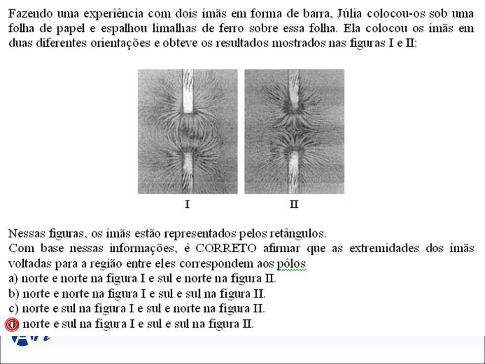 Nota: Substâncias Diamagnéticas São materiais que se colocados na presença de um campo magnético tem seus ímãs elementares orientados no sentido contrário ao sentido do campo magnético aplicado.