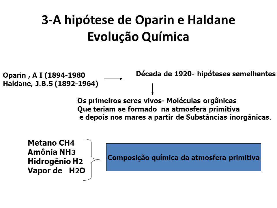 Hipóteses sobre a origem da vida Há pelo menos 3 hipóteses propostas: a)Origem por criação divina (criacionista) b)Origem extraterrestre (panspermia c
