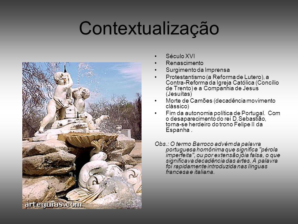 Contextualização Século XVI Renascimento Surgimento da Imprensa Protestantismo (a Reforma de Lutero), a Contra-Reforma da Igreja Católica (Concílio de