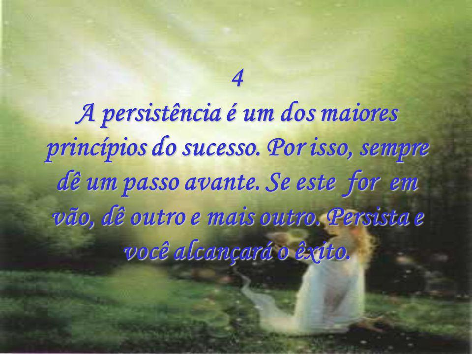 4 A persistência é um dos maiores princípios do sucesso.
