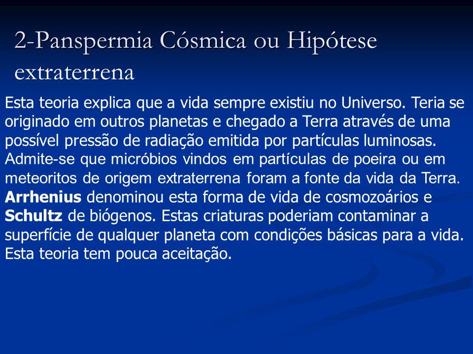 1. Hipótese da Criação Divina (criacionismo- fixismo) O conceito Trata-se de uma das hipóteses mais antigas conhecidas. Propõe que Deus tenha criado o