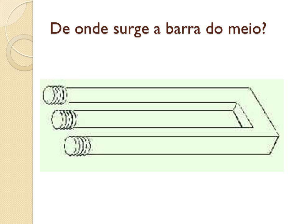 De onde surge a barra do meio?