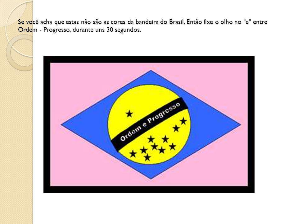 Se você acha que estas não são as cores da bandeira do Brasil, Então fixe o olho no
